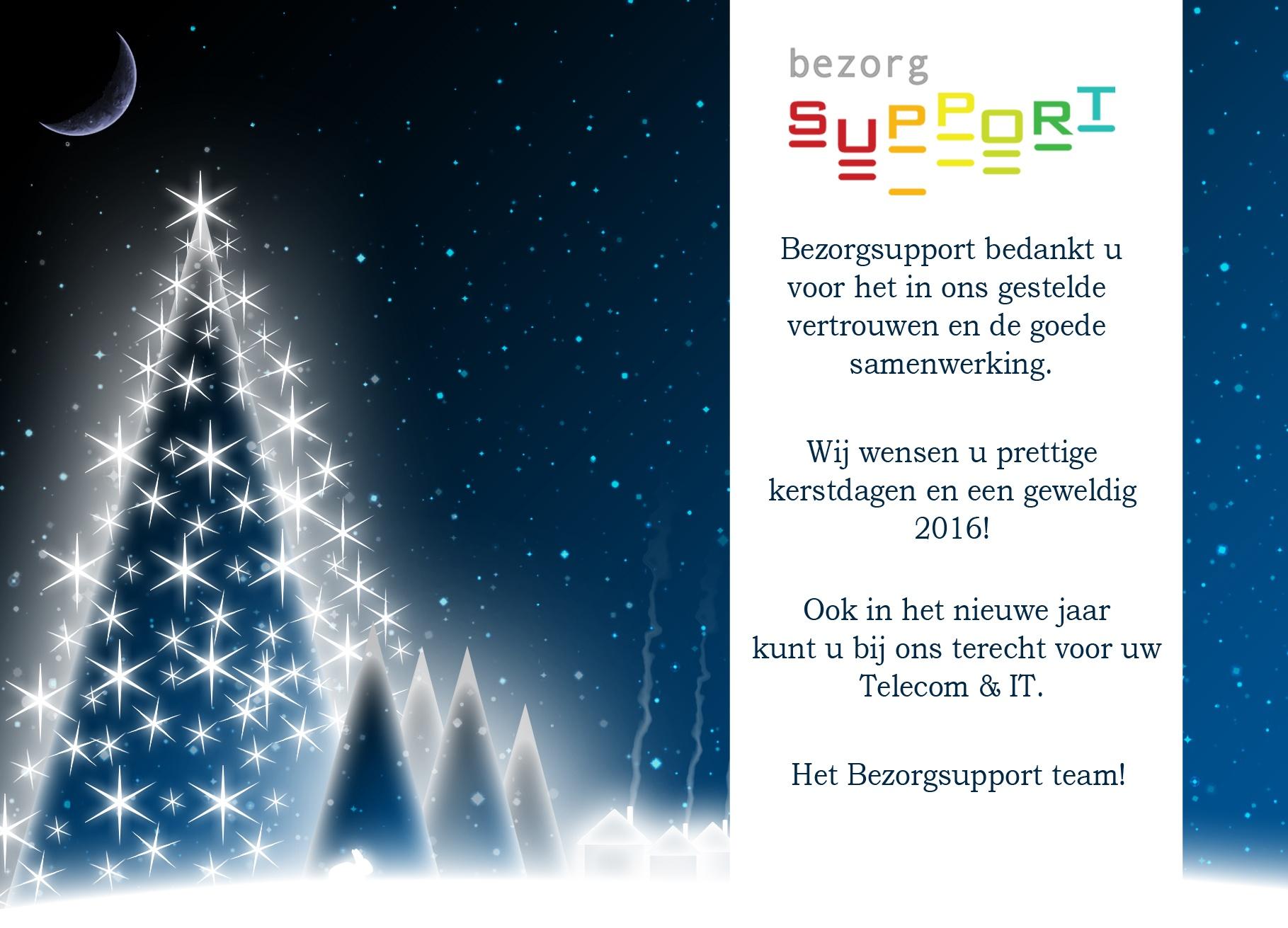 Bezorgsupport - Fijne Feestdagen! 2015